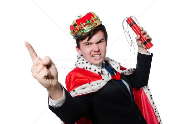 Affaires roi dynamite isolé blanche homme Photo stock © Elnur