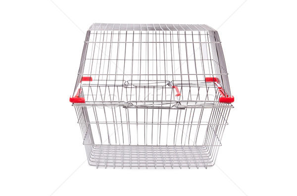 Shopping supermarket trolley isolated on the white Stock photo © Elnur