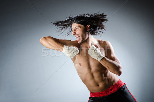 Ripped martial arts expert at training Stock photo © Elnur