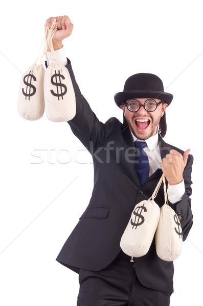 человека деньги изолированный белый бизнеса Сток-фото © Elnur