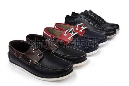 мужчины обувь изолированный белый фон черный Сток-фото © Elnur