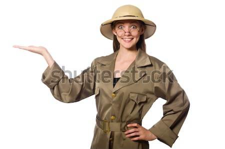 смешные Safari охотник фон пушки человек Сток-фото © Elnur