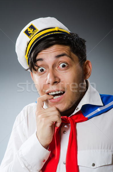 Engraçado marinheiro seis sorrir homem Foto stock © Elnur