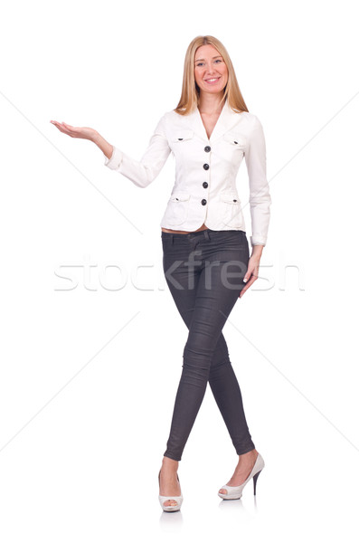 Woman businesswoman isolated on the white Stock photo © Elnur