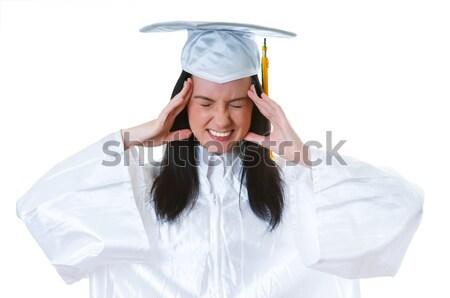 Funny marynarz cap shirt uśmiech twarz Zdjęcia stock © Elnur