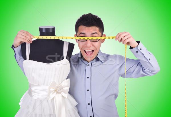 смешные мужчины портной белый бизнеса девушки Сток-фото © Elnur