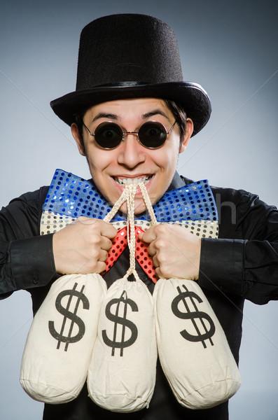 смешные человека деньги доллара очки весело Сток-фото © Elnur