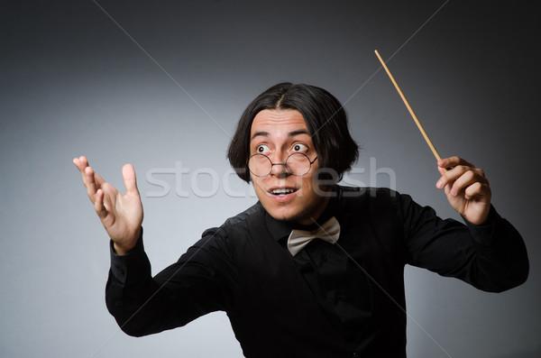 смешные музыкальный стороны фон искусства черный Сток-фото © Elnur