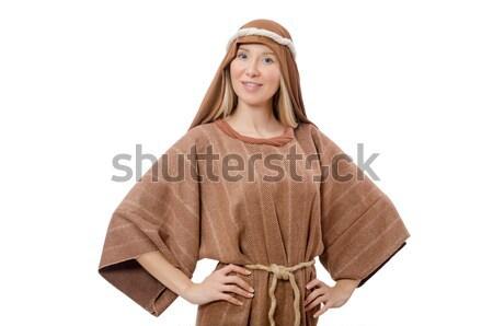 Femme médiévale arabes vêtements blanche Photo stock © Elnur