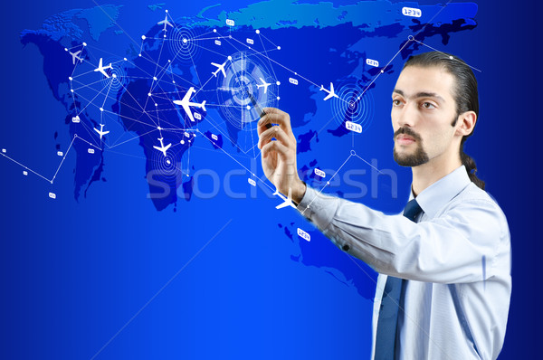 Businessman in air transportation concept Stock photo © Elnur