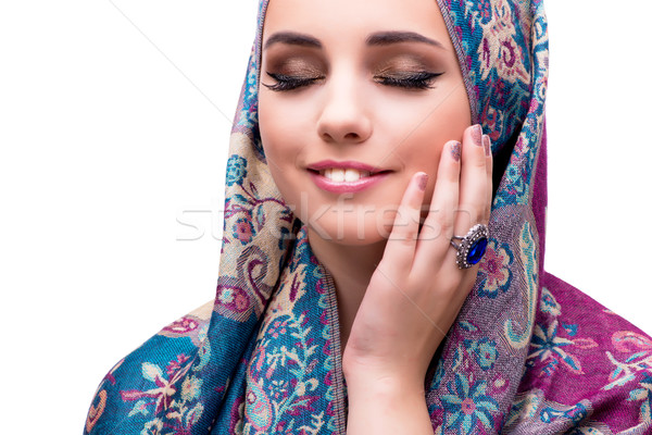 Muslim woman in fashion concept isolated on white Stock photo © Elnur