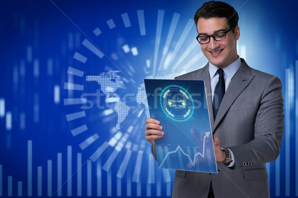 Young businessman in data mining concept Stock photo © Elnur