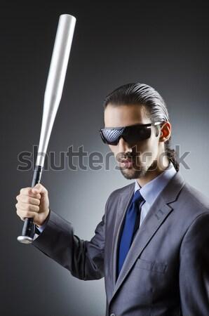 Geblinddoekt zakenman geïsoleerd witte business hand Stockfoto © Elnur