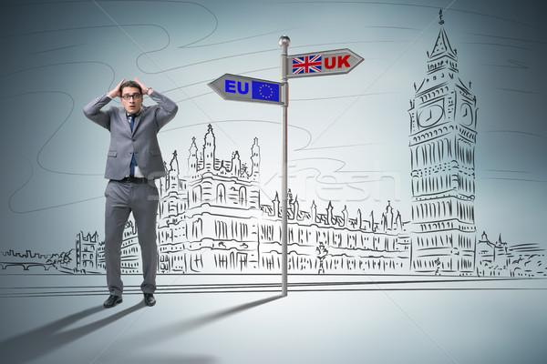 Businessman in Brexit concept - UK leaving EU Stock photo © Elnur
