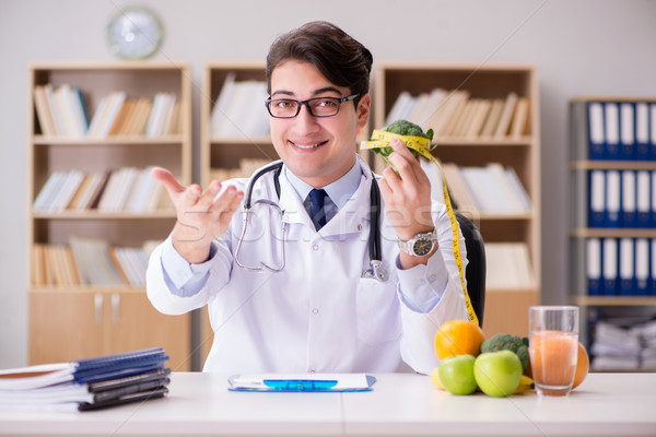 врач диеты плодов овощей человека медицинской Сток-фото © Elnur