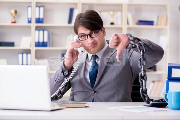 Zakenman ketens werk business computer telefoon Stockfoto © Elnur