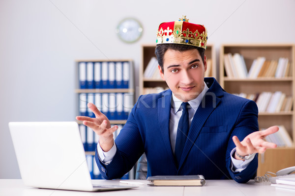 King businessman working in the office Stock photo © Elnur