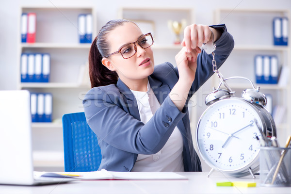 Businesswoman in time management concept  Stock photo © Elnur