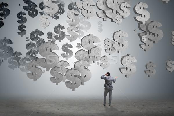 Işadamı finansal amerikan dolar iş el Stok fotoğraf © Elnur