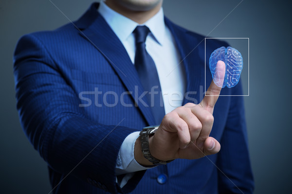 The businessman in artificial intelligence concept Stock photo © Elnur