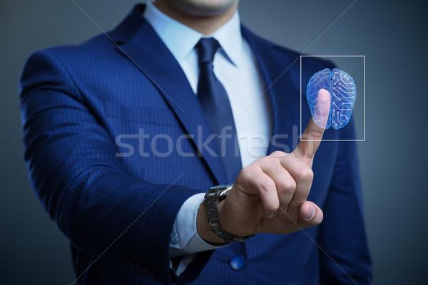 бизнесмен искусственный интеллект бизнеса сеть мозг будущем Сток-фото © Elnur