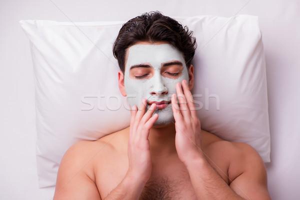 The handsome man in spa massage concept Stock photo © Elnur