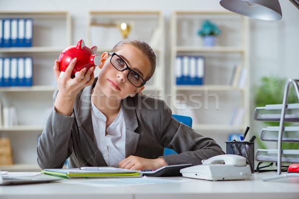 Femenino mujer de negocios jefe contador de trabajo oficina Foto stock © Elnur