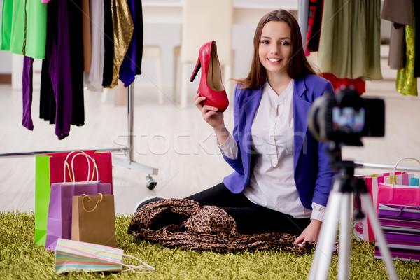 красоту моде блоггер видео Блог бизнеса Сток-фото © Elnur