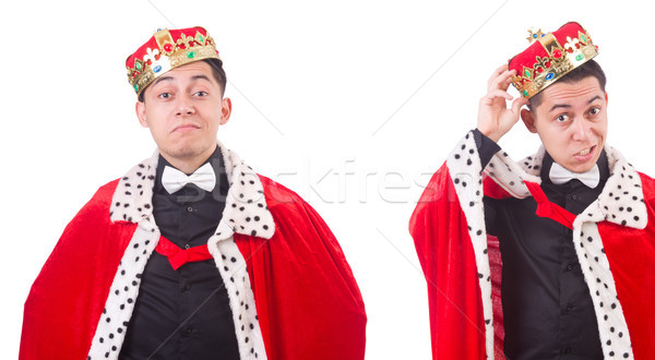 Businessman with crown isolated on white Stock photo © Elnur