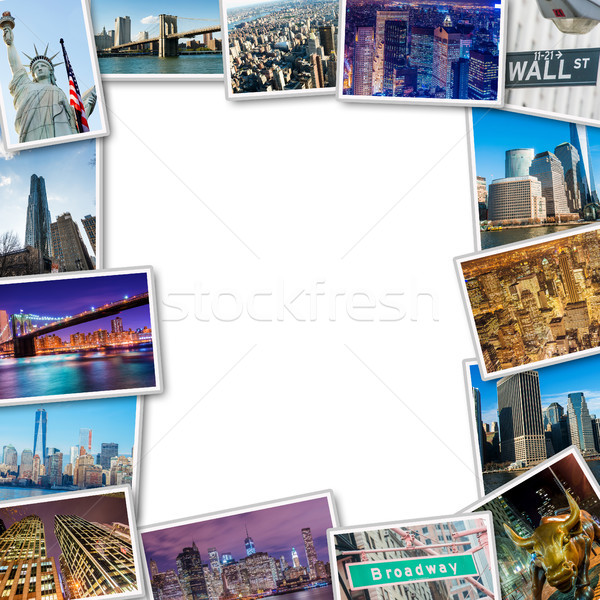 Set of New York photos arranged in frame Stock photo © Elnur