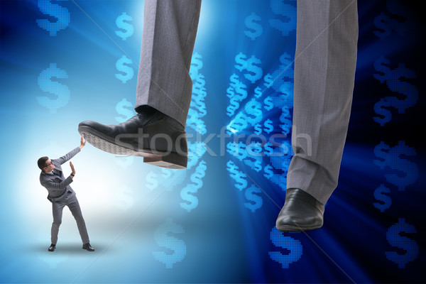 Bad angry boss stamping on employee in business concept Stock photo © Elnur