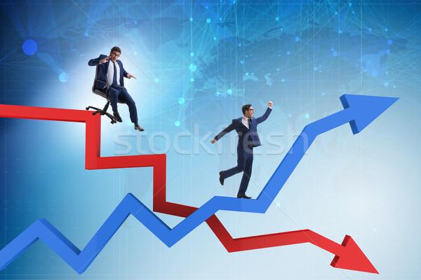 Croissance diminuer affaires affaires homme heureux Photo stock © Elnur