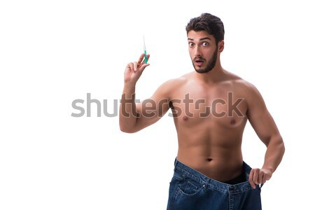 Stock photo: Man in pirate costume in halloween concept
