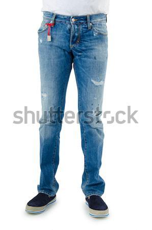 Pantaloni isolato bianco modello maschio moderno Foto d'archivio © Elnur