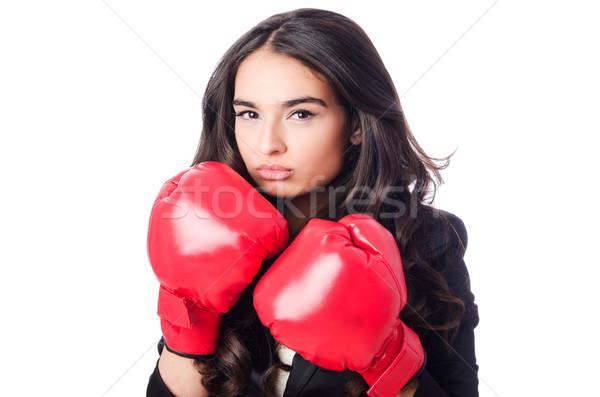 боксерская перчатка бизнеса служба стороны работу Сток-фото © Elnur