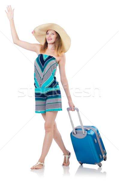 Donna ragazza felice sfondo viaggio Foto d'archivio © Elnur