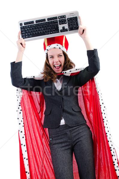 Frau Königin funny Computer Arbeit Geschäftsmann Stock foto © Elnur