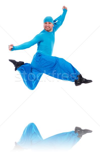 танцовщицы широкий брюки белый человека моде Сток-фото © Elnur