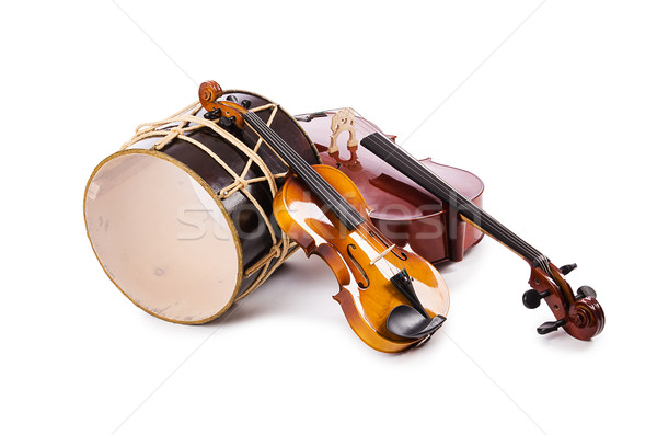 A group of instruments isolated on white Stock photo © Elnur