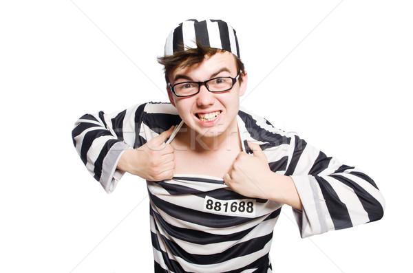 Funny prisión preso ley policía justicia Foto stock © Elnur