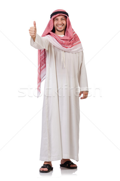 Arab man isolated on white Stock photo © Elnur