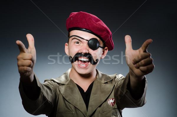 Vicces katona katonaság kéz háború mérges Stock fotó © Elnur