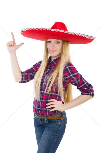 Komik Meksika geniş kenarlı şapka el mutlu Retro Stok fotoğraf © Elnur