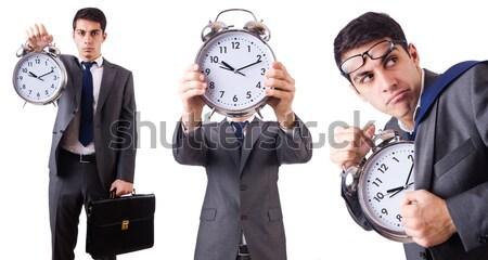 Femme dynamite horloge blanche affaires fille Photo stock © Elnur