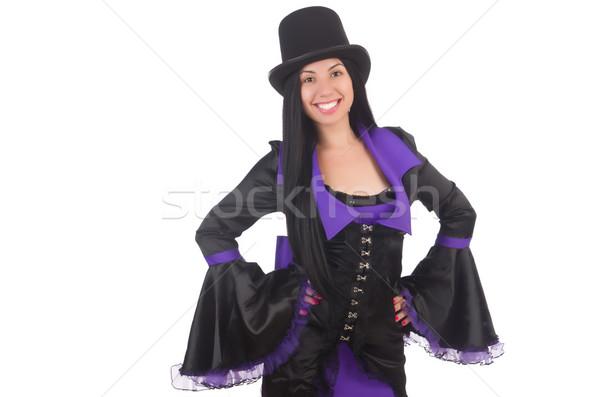 женщину черный фиолетовый платье изолированный белый Сток-фото © Elnur