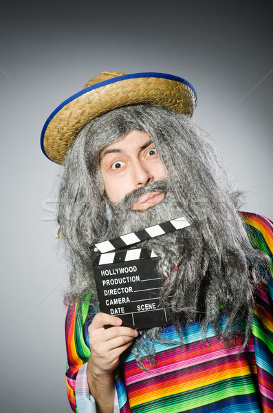 Funny haarig mexican Film Gesicht Kino Stock foto © Elnur