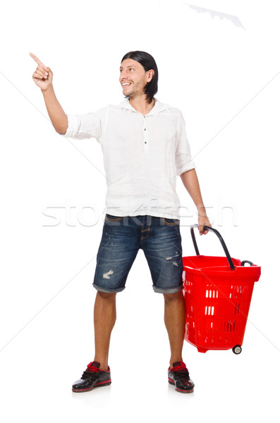 Shopping cart with supermarket basket Stock photo © Elnur