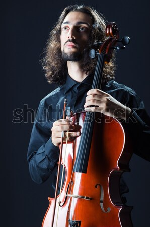 Scary monster playing violing in halloween concept Stock photo © Elnur