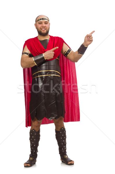 Gladiator odizolowany biały człowiek tle studio Zdjęcia stock © Elnur