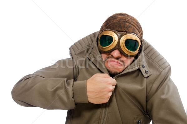 Engraçado piloto isolado branco cara moda Foto stock © Elnur